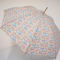 S9641 TOPKAPI×LIBERTY 高級傘 USED極美品 テキスタイル 小花 寒竹 トプカピ×リバティ 55cm 中古 ブランド