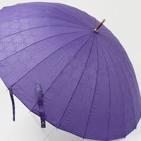 A9477 mabu マブ 超軽量24本骨傘 USED超美品 眩 桔梗 紫 男女兼用 60cm 中古 ブランド