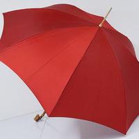 A9870 BURBERRY バーバリー 傘 USED美品 ロゴジャガード 細巻 寒竹 55cm 中古 ブランド