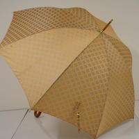 CELINE セリーヌ 高級傘 USED美品 ジャガードマカダム 天然木手元 60cm 中古 ブランド A0457