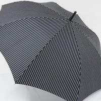 A0821 +nico プラスニコ 紳士晴雨兼用傘 USED美品 ストライプ65cm UV 中古