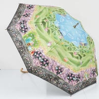 A0806 ㈱小川 Disney 晴雨兼用日傘 USED美品 キャンバスパラソル アリス ハートの女王 UV 遮光 遮熱 50cm 中古ブランド