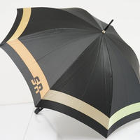 A0482 SONIA RYKIEL ソニアリキエル 傘 USED美品 アースカラーボーダー カーボン骨 60cm  中古 ブランド