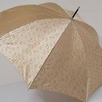 A0727 P&D ピンキー&ダイアン 傘 USED美品 ロゴグラフィ ジャガード 60cm 中古 ブランド