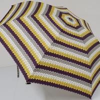 FS1734 cocca コッカ 折りたたみ傘 USED超美品 amu-amu柄 軽量 55cm 中古 ブランド