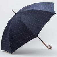 【日本製】 先染めジャガード生地の傘 (紺)小紋柄 65cm/長傘 [OSJ0001]
