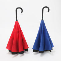 新型 自動閉骨 逆立ち傘 60cm/長傘 [OST151 BL/RE]
