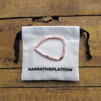NARRATIVE PLATOON CUBE bracelet ピンク