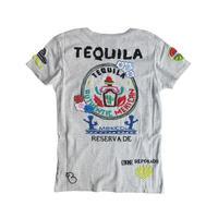 birdog 手刺繍Tシャツ テキーラ