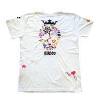 birdog  手刺繍  スカル  Tシャツ WHITE
