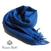 Cesare Gatti カシミヤストール  ROYAL BLUE