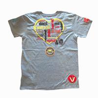 雑誌Safari掲載 birdog  手刺繍  ハート  Tシャツ  GRY
