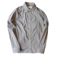 TSB ボタンダウンストレッチシャツ(ギンガムブラック、ギンガムブルー)