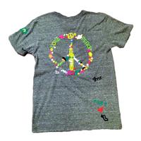 birdog 手刺繍ピースマークTシャツ BLK