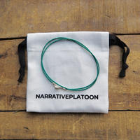 NARRATVEPLATOON color beads 2way necklace peal green