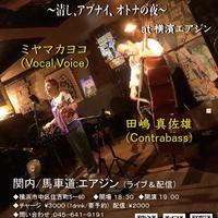ミヤマカヨコ(歌)×田嶋真佐雄(cb) 2021.1.11(月祝)  17:00~
