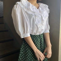 cotton frill vintage blouse