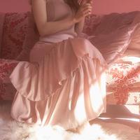 cherry blossom frill skirt