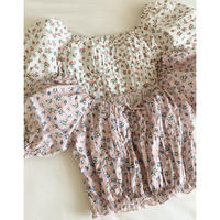 flower puff short tops