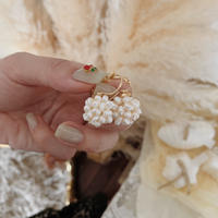 tiny round pearl pierce