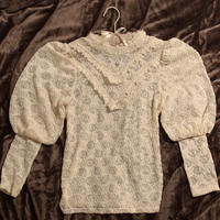 fluffy flower lace tops