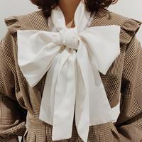 big ribbon tie classic blouse