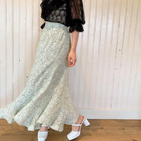 nuance flower flap skirt(mint)