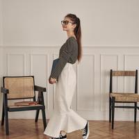 jacquard mermaid skirt(white)