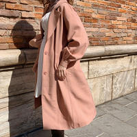 Treat basic Spring coat( salmon pink )