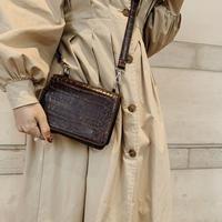 croco leather sholder bag
