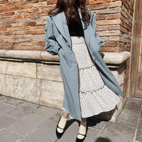Treat  basic Spring coat(mint blue)
