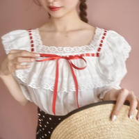 poppin country blouse(unahina collaboration)