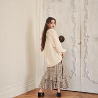 glen check frill skirt