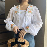 spring flower vintage blouse