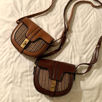 houndstooth sholder mini bag