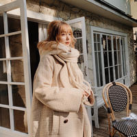 tweed check vintage coat