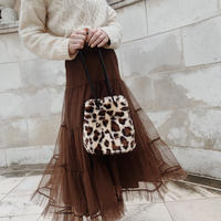 leopard fur bag