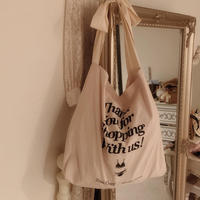 ribbon lingerie tote bag(ivory)