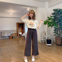 dot mellow pleats pants(mocha)