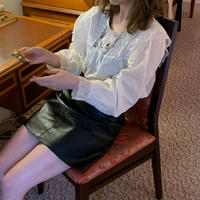 leather mini skirt (black)