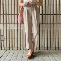 pink beige straight pants