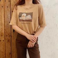 Treat puppy T-shirts(caramel)