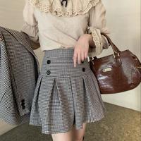 British girl pleats mini skirt