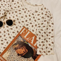 retro flower thermal tops