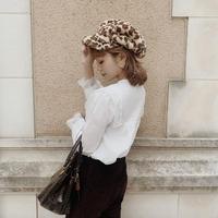 leopard fur casket hat