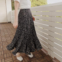 nuance flower flap skirt(black)