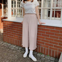 baby pink pleats pants