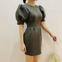 fluffy puff one-piece(grey)