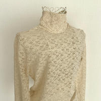 lace turtle neck inner(ivory)