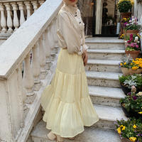 sheer tiered skirt (lemon)